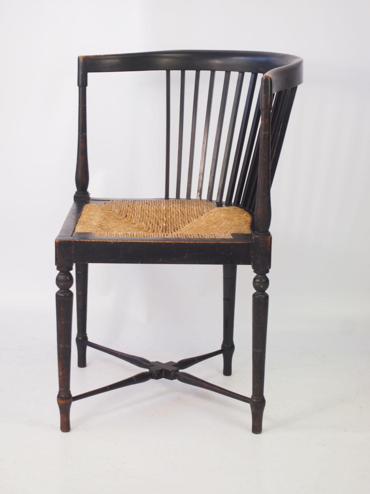 Small Antique Arts  Crafts Corner Chair