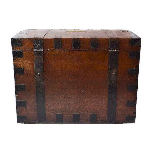 Antique Oak Travelling Trunk