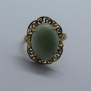 Oriental Jade Gold Ring