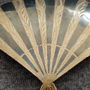 Silver Miello Fan Brooch