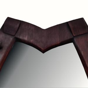 Heavy Horse Shoe Shaped Wall Mirror