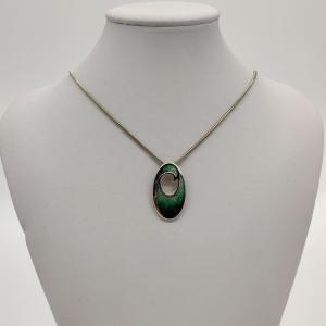 Malcolm Gray Silver Enamel Necklace