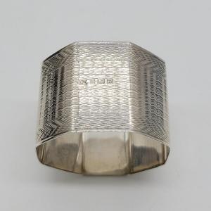 Wonderful Bishton's Ltd Boxed Silver Art Deco Napkin Holders