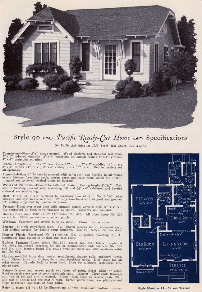 1925 Pacific Ready Cut Homes Design No 90 California