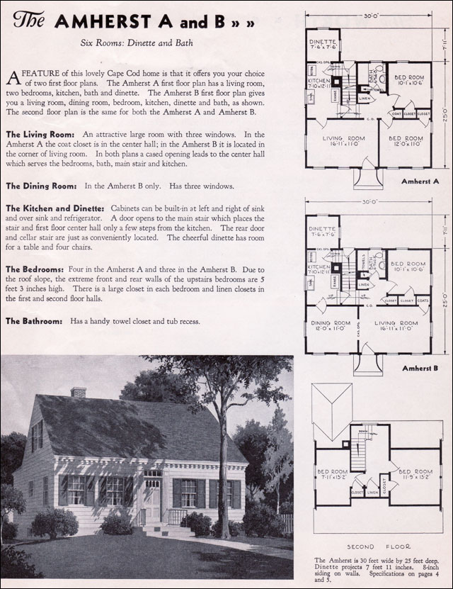 1935 Gordon Van Tine Homes The Amherst Cape Cod