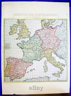 Spain France Italy Map : spain, france, italy, Antique, France, Archive, Anville, Large, Germany, Spain, Italy, Roman, Europe