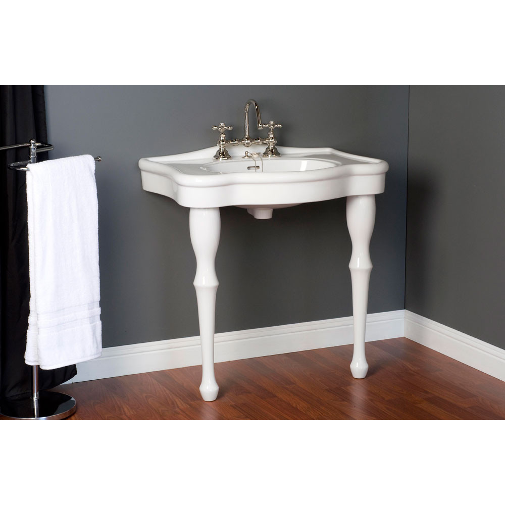 p0710 console sink with legs 8 inch faucet drillings