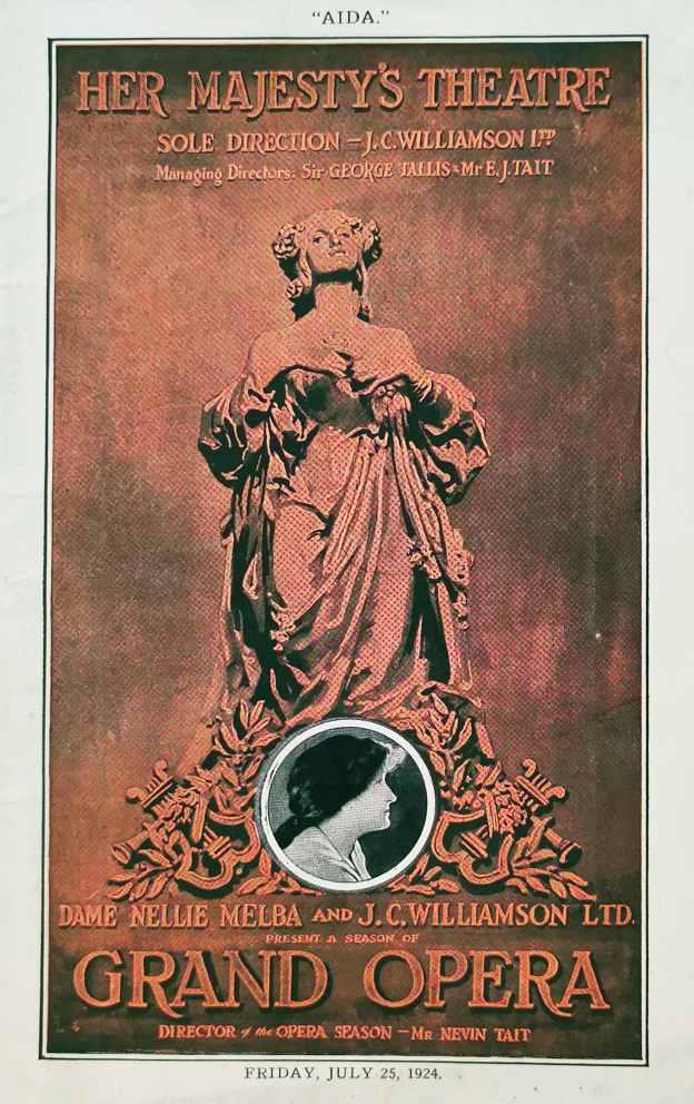 """Aida"" Her Majesty's Theatre. Present a Season of Grand Opera. - Vintage Ephemera from 1924"