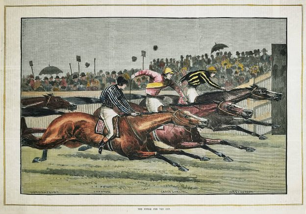 The finish for the cup. - Antique Print from 1885