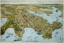 The City of Sydney, 1888. - Antique View from 1888