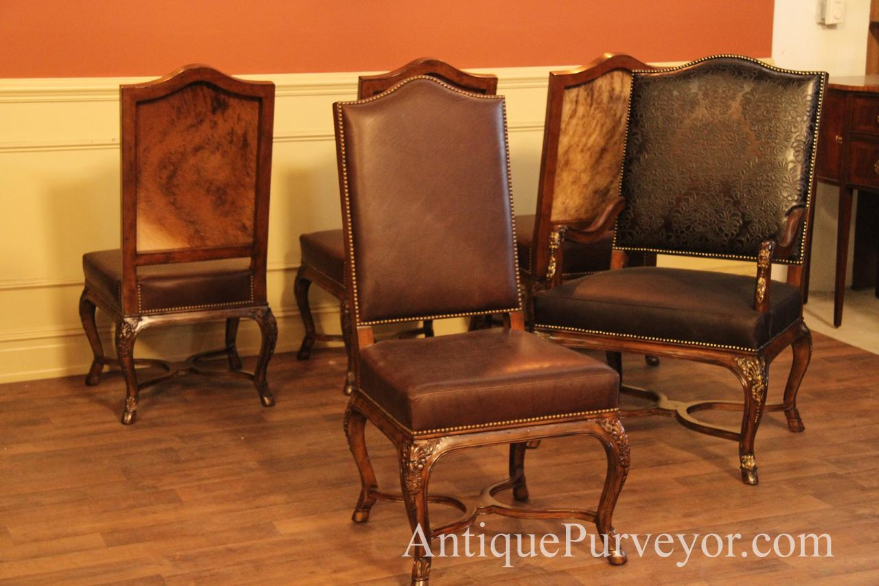 Dining Room Chairs Leather Hair Hide And Leather Upholstered Dining Room Chairs