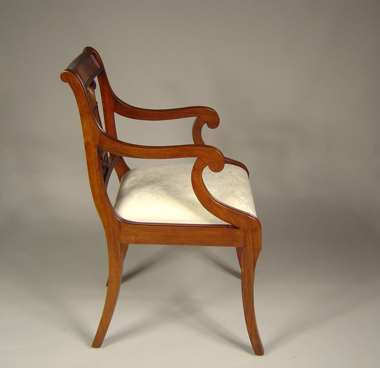 Lyre Back Chairs Lyre Back Dining Room Chairs Solid Mahogany Schmieg