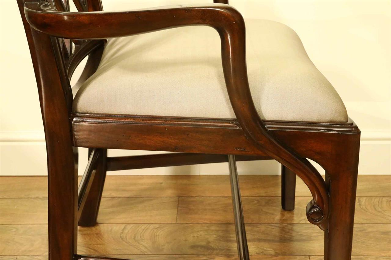 Traditional Dining Room Chairs Mahogany Chippendale Chairs For Elegant Formal Dining Rooms