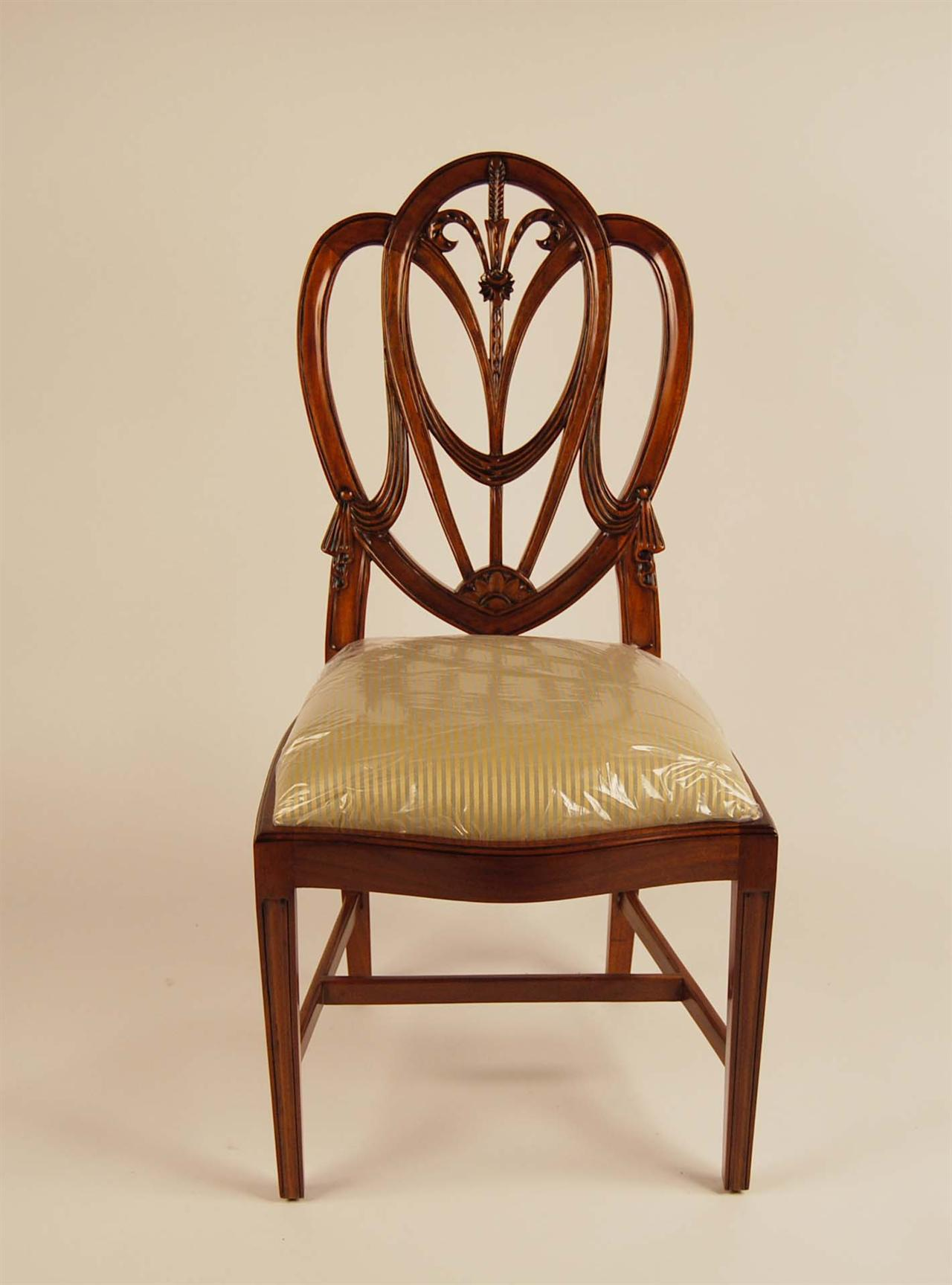 Chair Back Mahogany Shield Back Dining Room Chairs Sweetheart Ebay