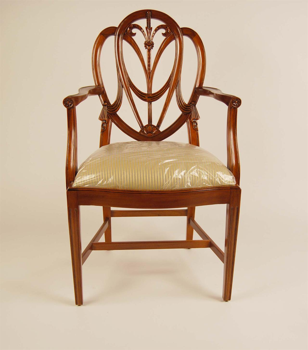 Chair Back Mahogany Shield Back Dining Chairs Sweetheart Chairs