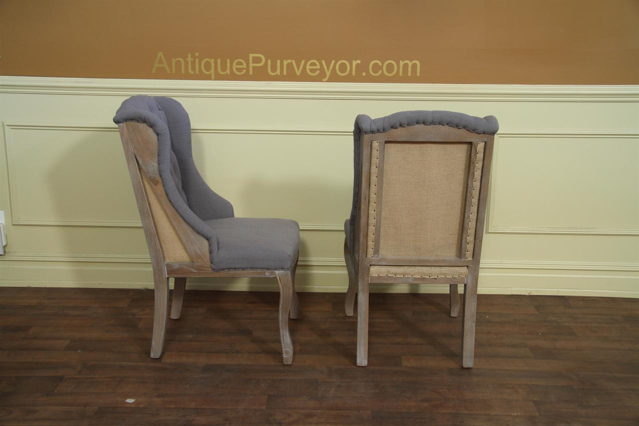 Burlap Dining Chairs Deconstructed Dining Chair With A Burlap Back