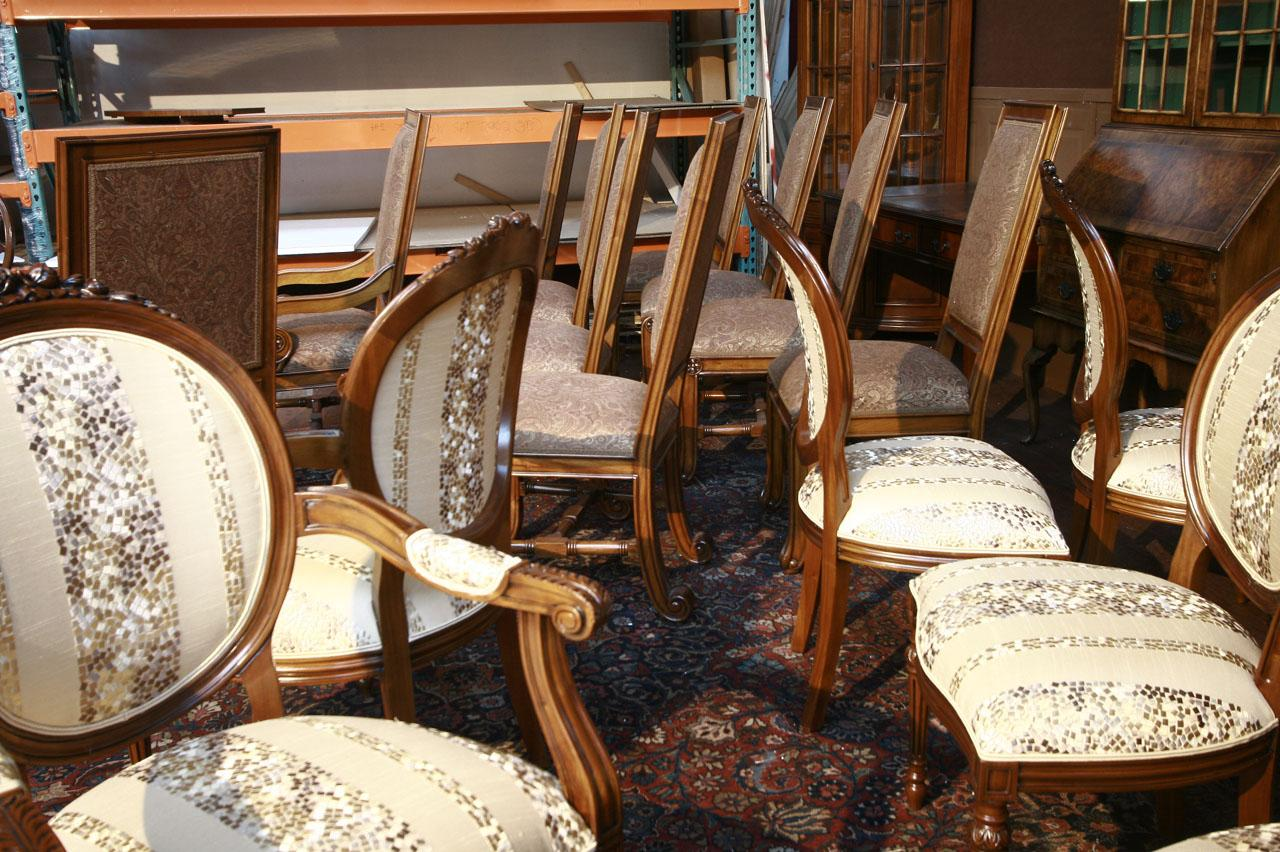 Round Back Dining Room Chairs 8 Upholstered Dining Chairs Mahogany Round Back Chairs