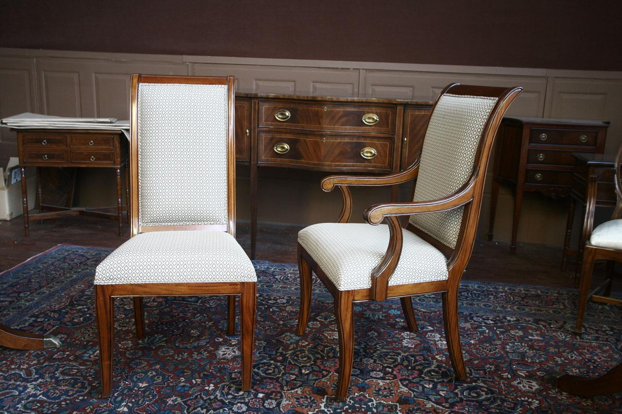 Room Chairs Mahogany Dining Room Chairs Regency Upholstered Ebay