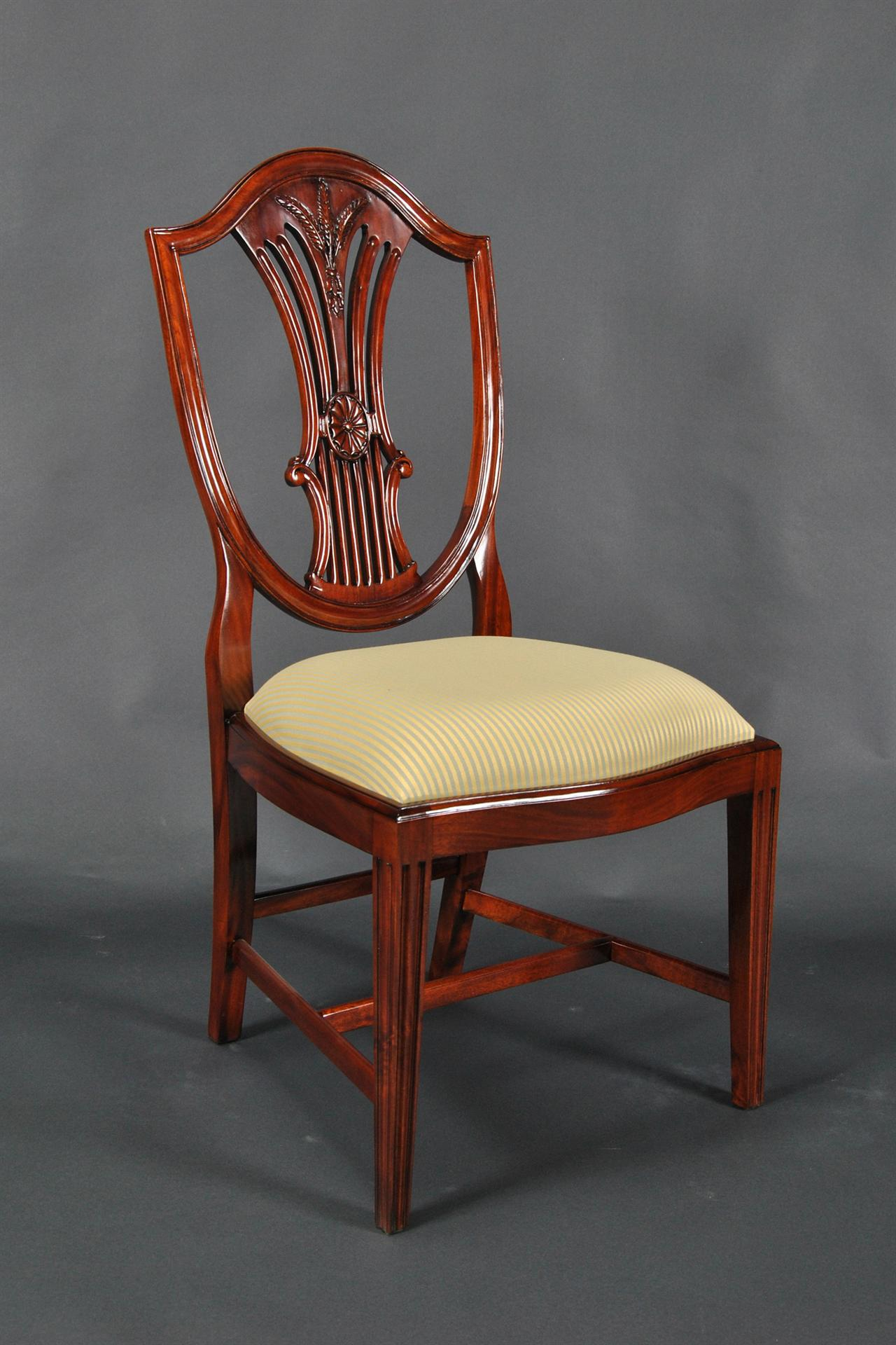 Chair Back Solid Mahogany Shield Back Chairs