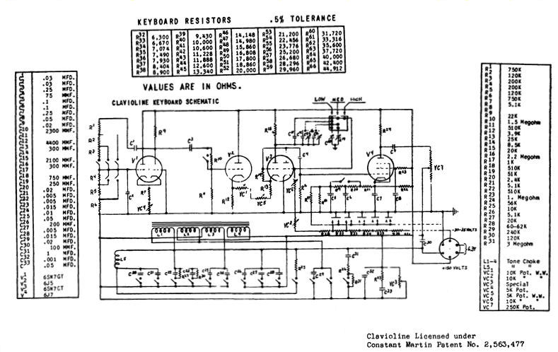 Schematic Diagram Keyboard