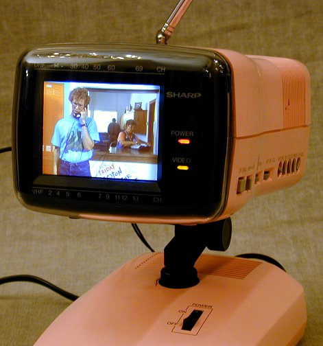 Sharp Model 3LS36 Miniature Color Television 1986