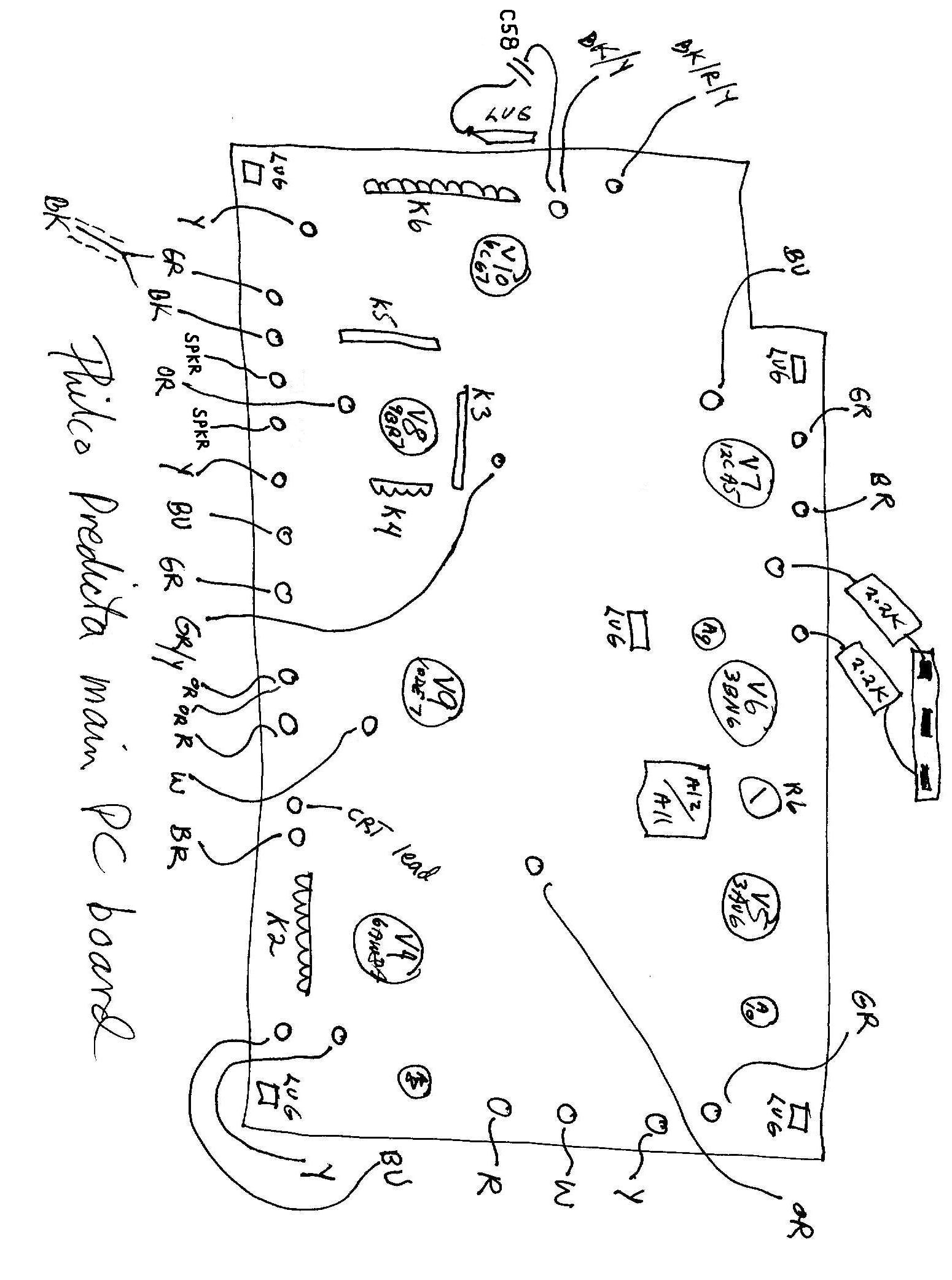 Vintage Philco Schematic Symbol Schematic Diagrams Vintage
