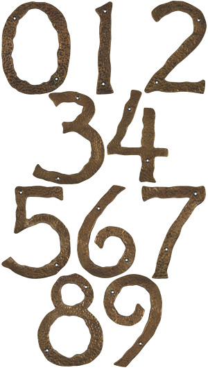 Rustic Bronze House Numbers from Antique Revelry