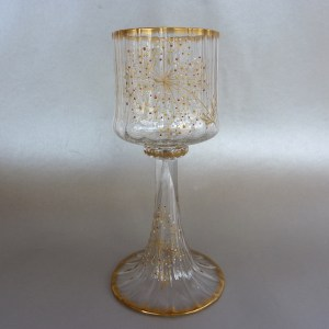 Daum Nancy wine glass