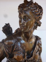 Pair Of Bronzes By Mathurin Moreau Huntress And Hunter