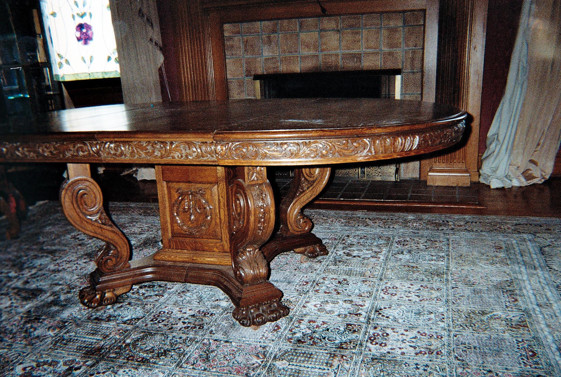 Incredible Oak Dining Room Set For Sale