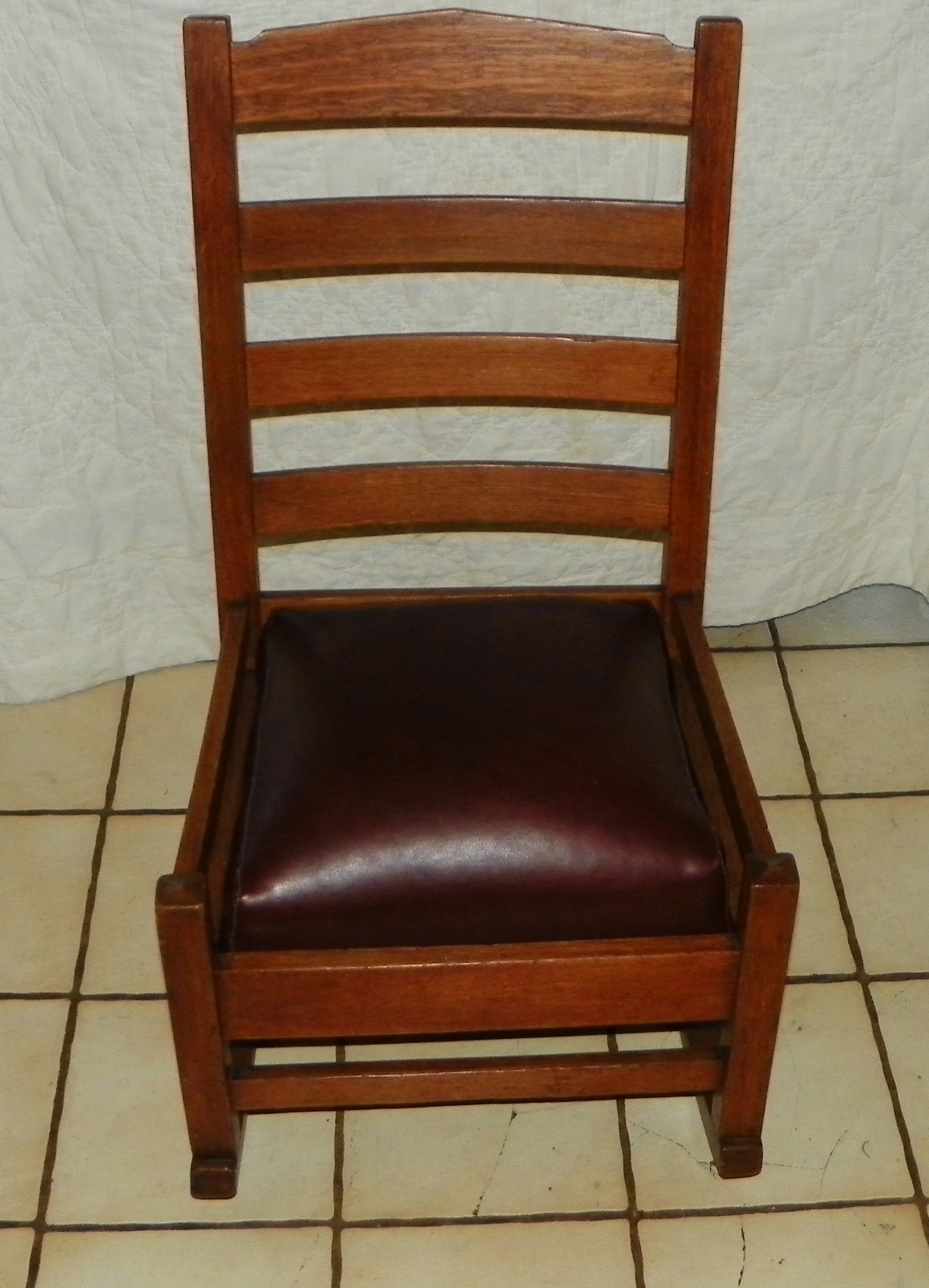 Sewing Chairs Quartersawn Oak Mission Sewing Rocker Rocking Chair