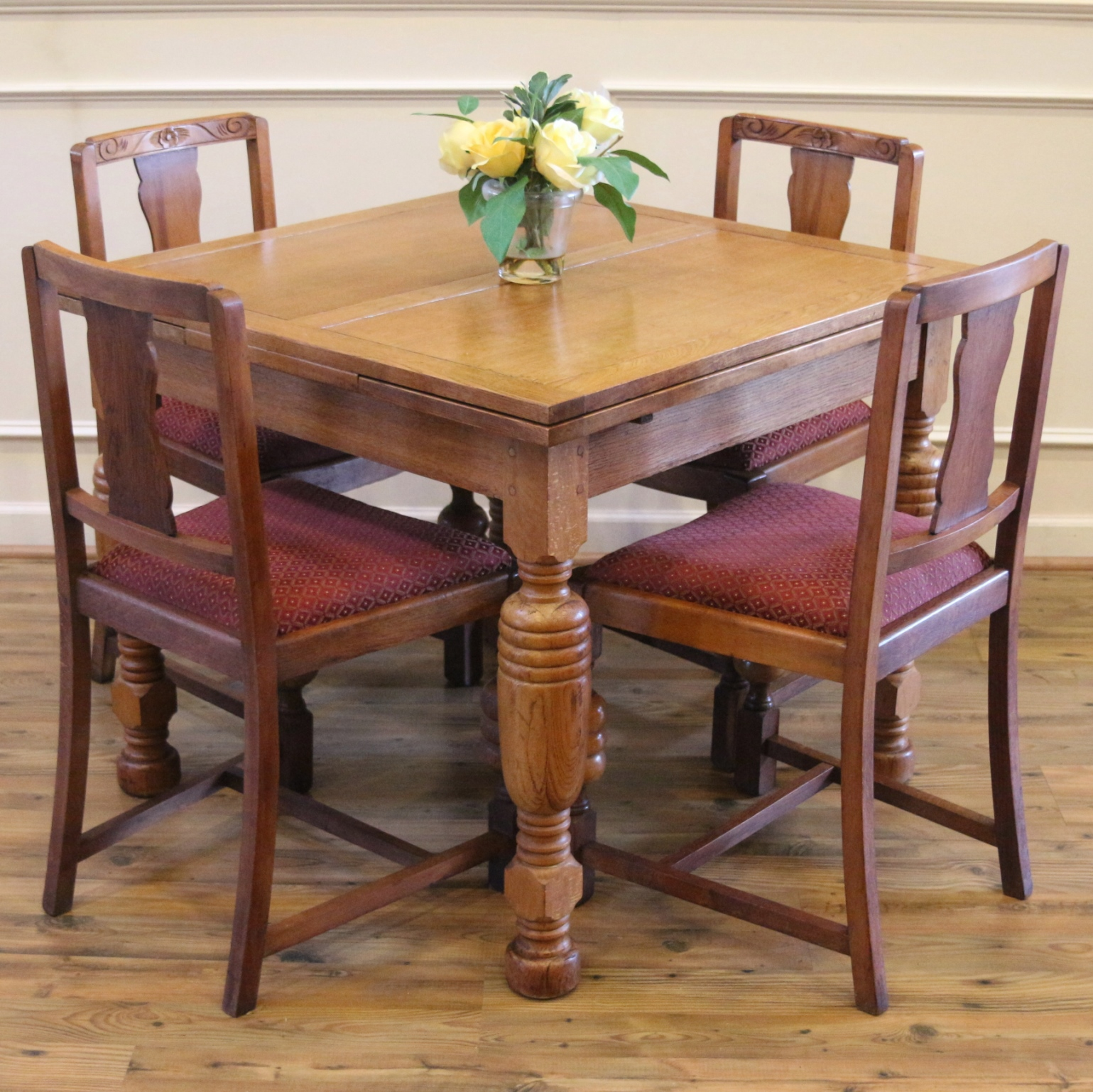 Breakfast Table Chairs Antique English Oak Pub Table And 4 Chairs Dining Set For
