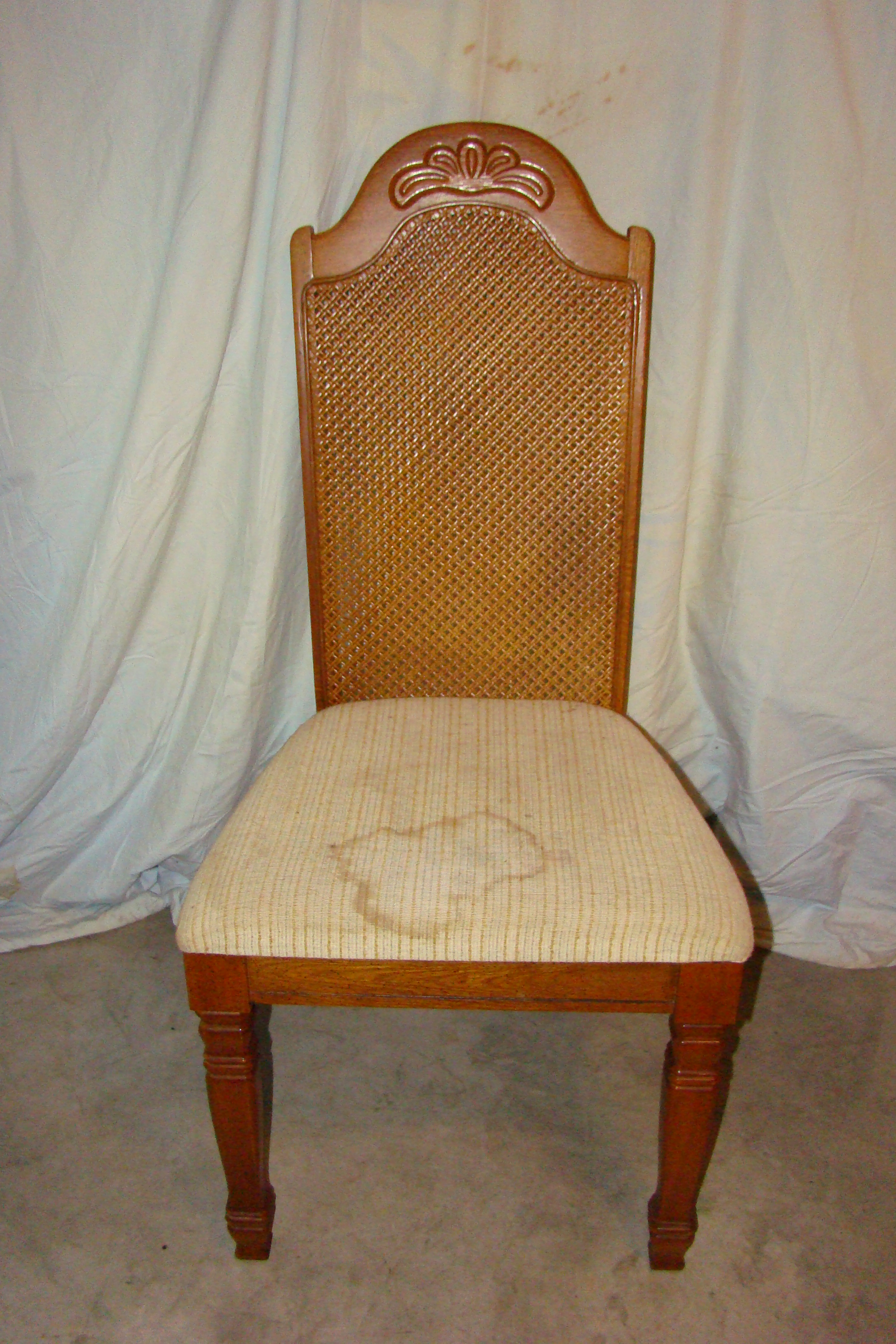 Antique Wicker Chairs Antique European Set Of 4 Wicker Back Chairs For Sale
