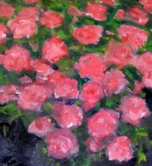 Oil on canvas tear repair.
