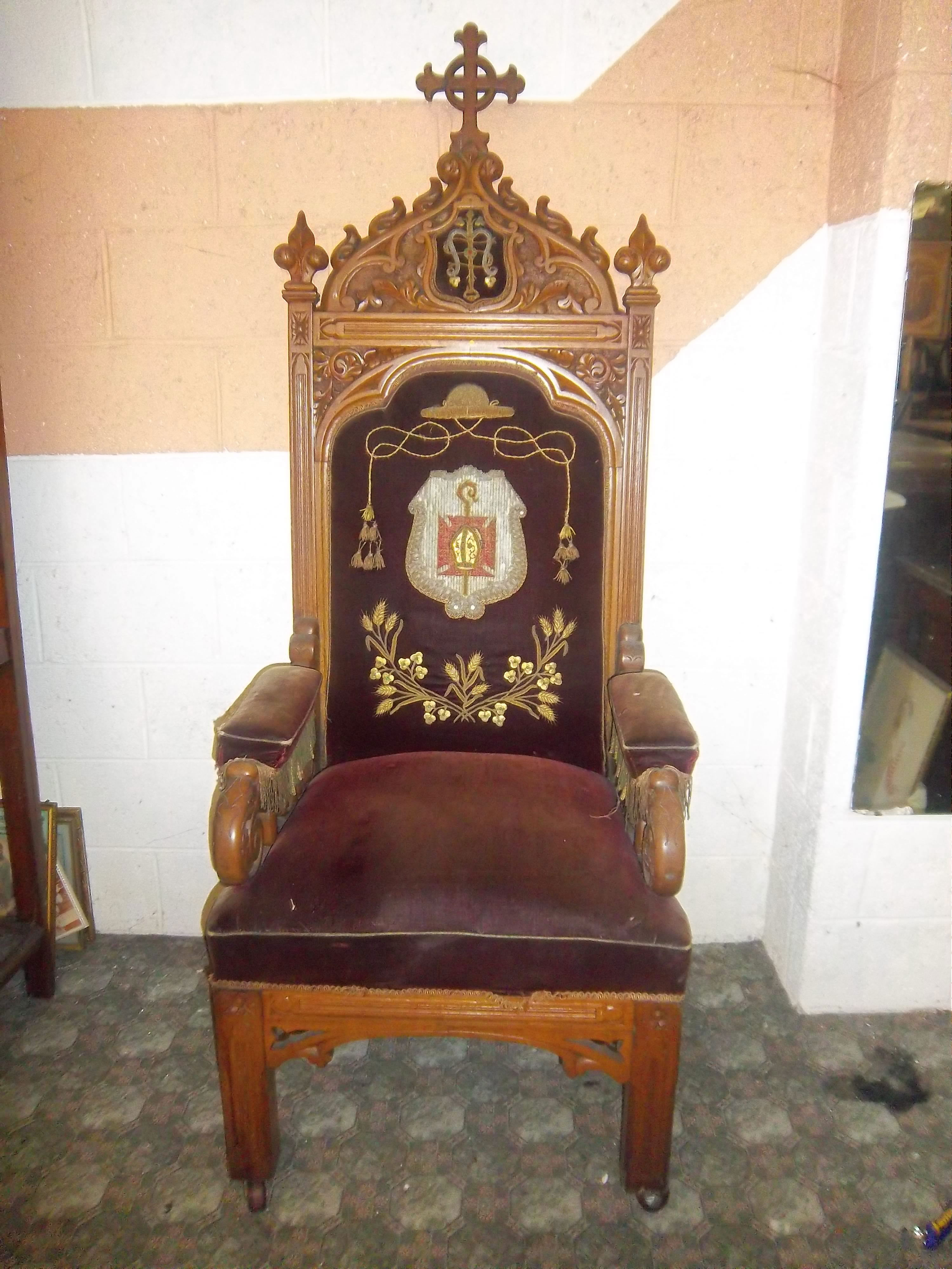 throne chair for sale upholstered living room chairs of contents from three convents