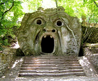 bomarzo, Italian Parks, Sourcing antiques in Italy, Antiques Diva, Architectural salvage