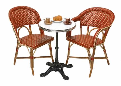 parisian cafe table and chairs antique windsor for sale french the antiques divathe diva bistro paris rattan les deux magots