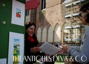 Antiques Diva Italy Tour, High Point Market, Linda Meeks, Pencil Me In, Custom Slipcovers, Tuscan Tours, Susan Pennington, Shopping in Florence, Buying Antiques in Italy, Florentine style