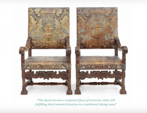 Please Be Seated pair of antique chairs