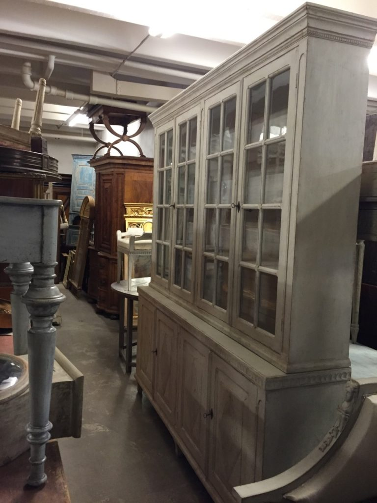 Sweden- Antique Buying Service-Large Gustavian style cabinet