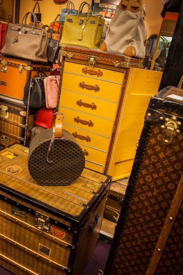 vintage Louis Vuitton and Hermes at the Paris Flea Market
