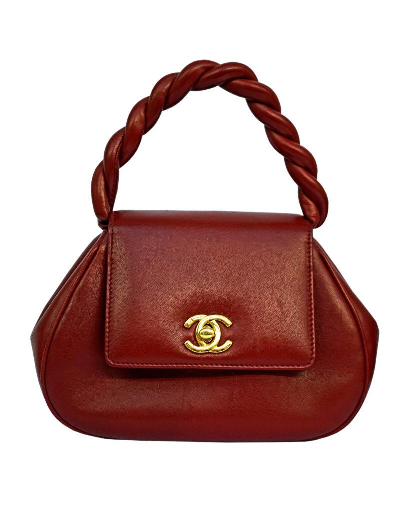 Linda Bee Red Chanel Bag Vintage 1980s Grays London