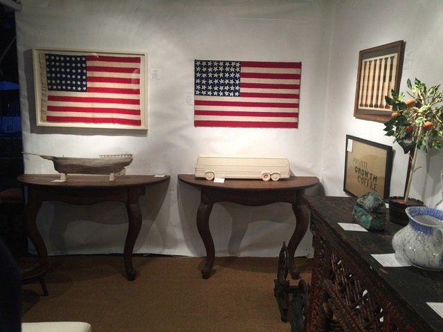 Andrew Spindel Antiques booth at East Hamptons Antiques Show 2017 on Antiques Diva Hamptons Antiques and Design Tour