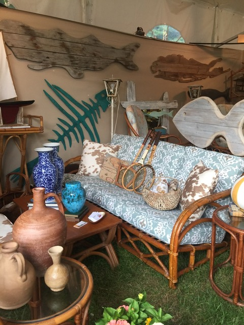 Girls Guide To Paris booth at East Hamptons Antiques Show 2017 on Antiques Diva Hamptons Antiques and Design Tour