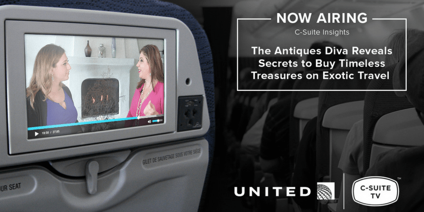 Watch: Toma Clark Haines on United Airlines Inflight C-Suite Insights | Toma Clark Haines | The Antiques Diva & Co