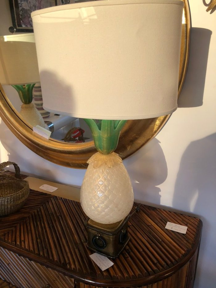 Pair of Murano Pineapple Lamps, c 1950s from Sol on Dixie