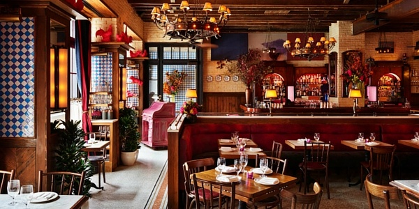 Ludlow Hotel in-house restaurant, Dirty French: originally our chandeliers (photo permission from Major Food Group)