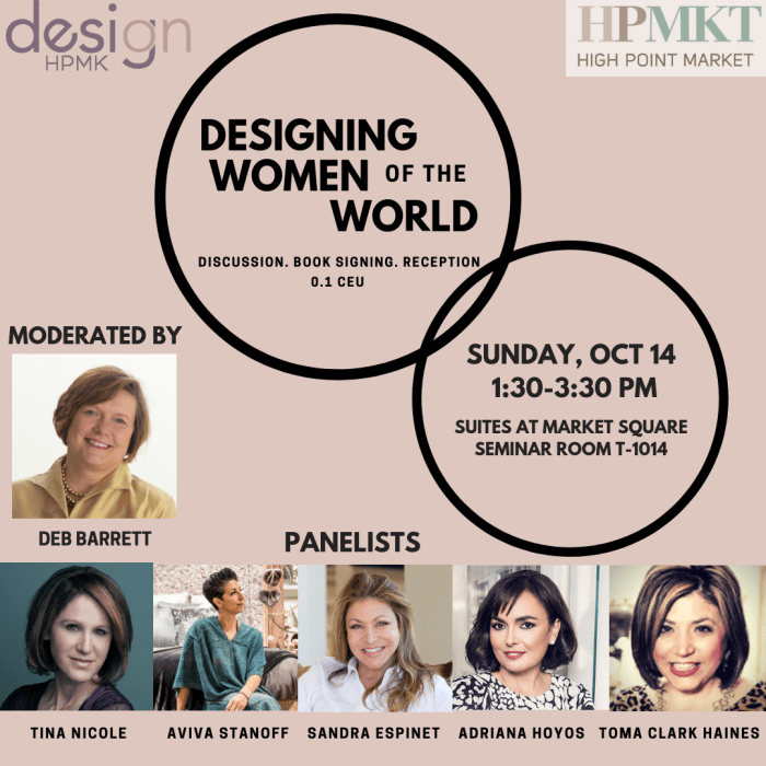 Designing Women of the World | Toma Clark Haines at HPMKT