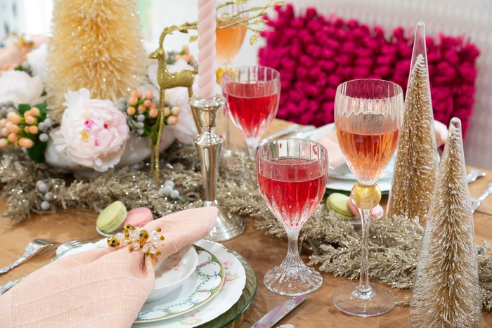 Wonderful Christmastime Ladies Brunch | Wonderful Christmastime Ladies Brunch | pink tablescape | The Antiques Diva & Co