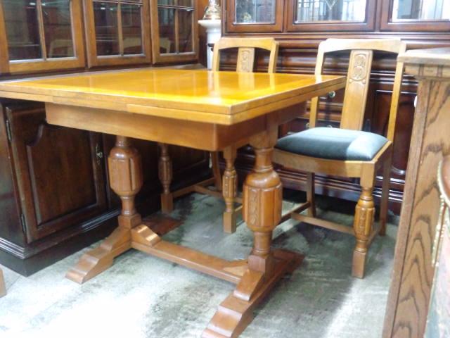アンティークスライドリーフテーブル